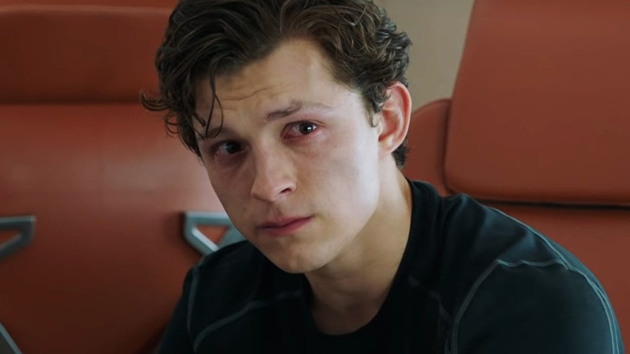Sad Tom Holland Spider-Man