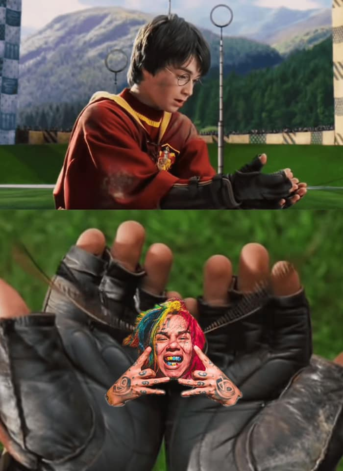 Harry Potter and the Golden 6ix9ine snitch