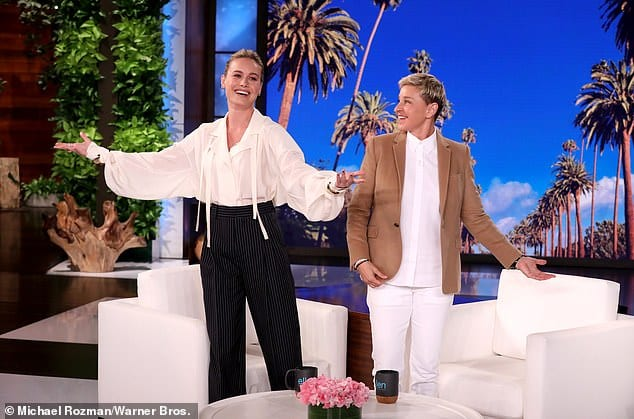 Brie Larson dressed like a pirate on Ellen