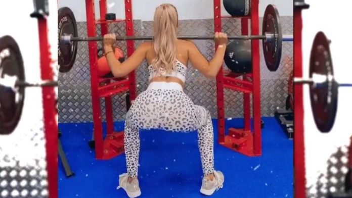 Jessika Power gym fail: MAFS star can't do squats