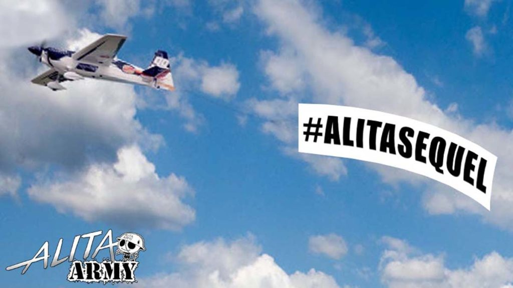 #AlitaSequel #AlitaArmy banner flies of Oscars and the academy noticed