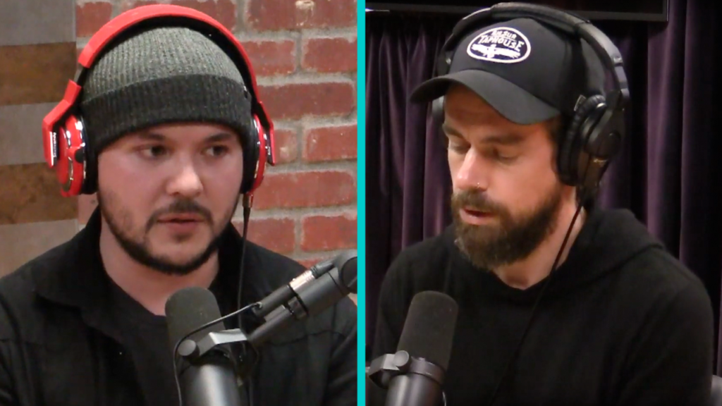 Investigative journalist Tim Pool and Twitter CEO Jack Dorsey on Joe Rogan