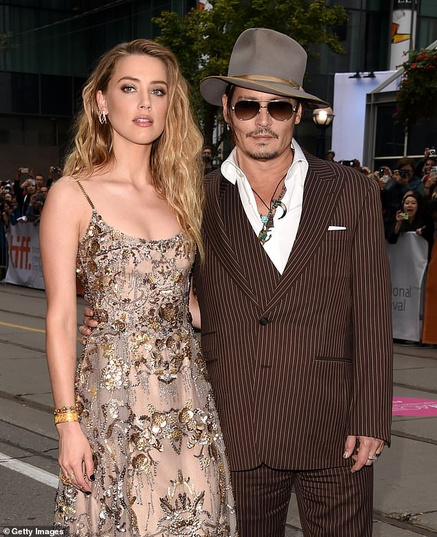 Amber Turd and Johnny Depp