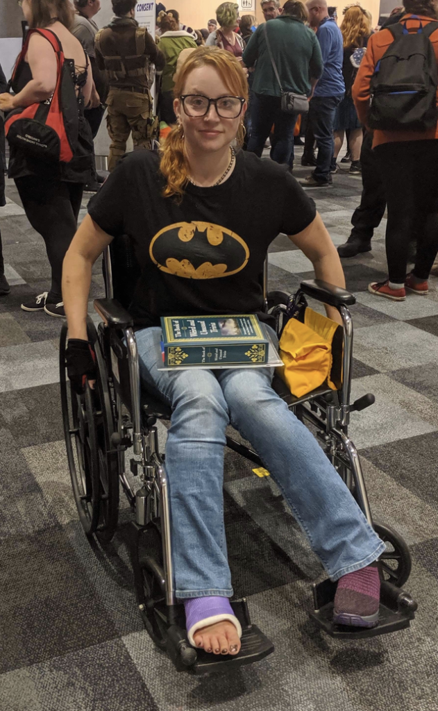Arkham City: Oracle cosplay at Comic Con