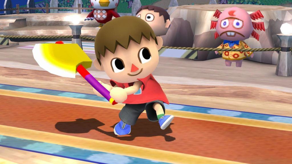 Villager from Animal Crossing in Smash Bros