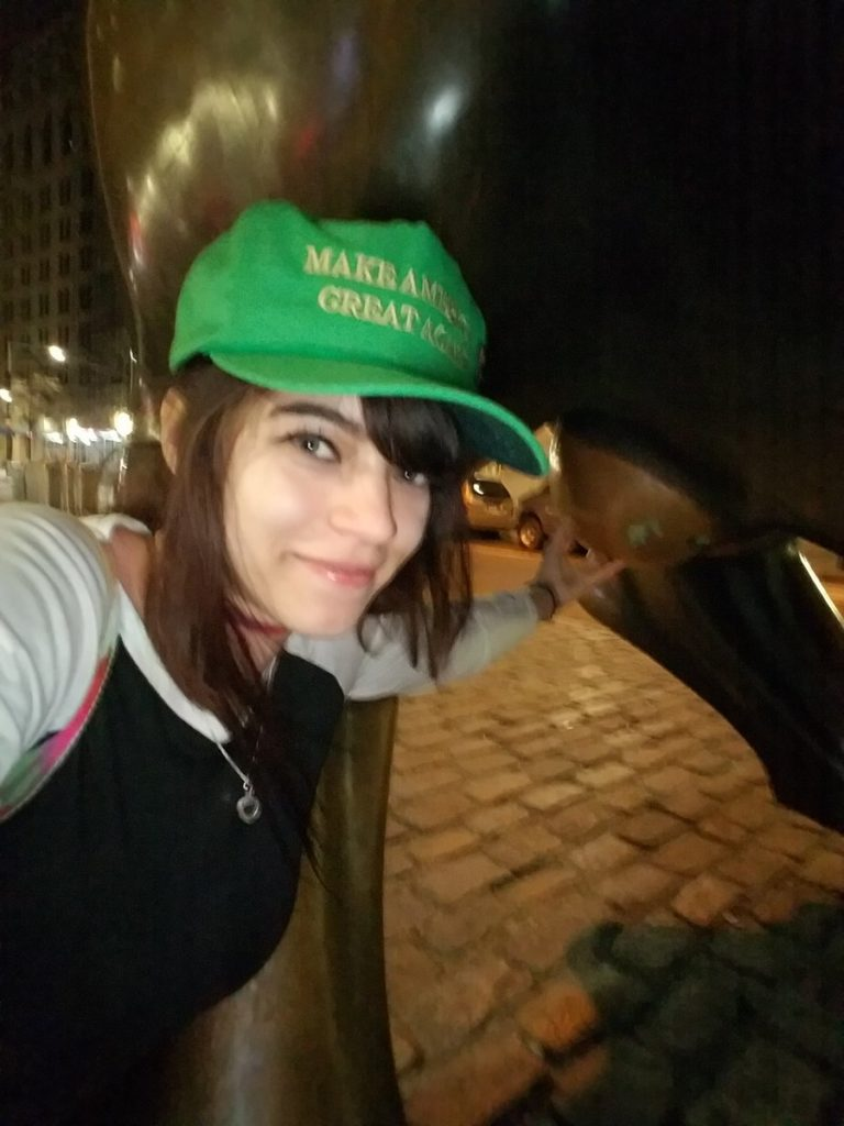 Conservative YouTuber in MAGA cap