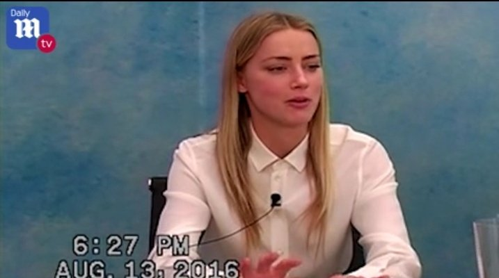 Amber Heard reacts to audio tapes