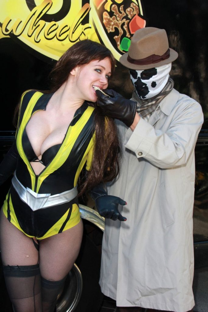 Silk Spectre and Rorschach ft. Ward