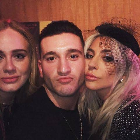 Joey Sasso with Lady Gaga and Adelle