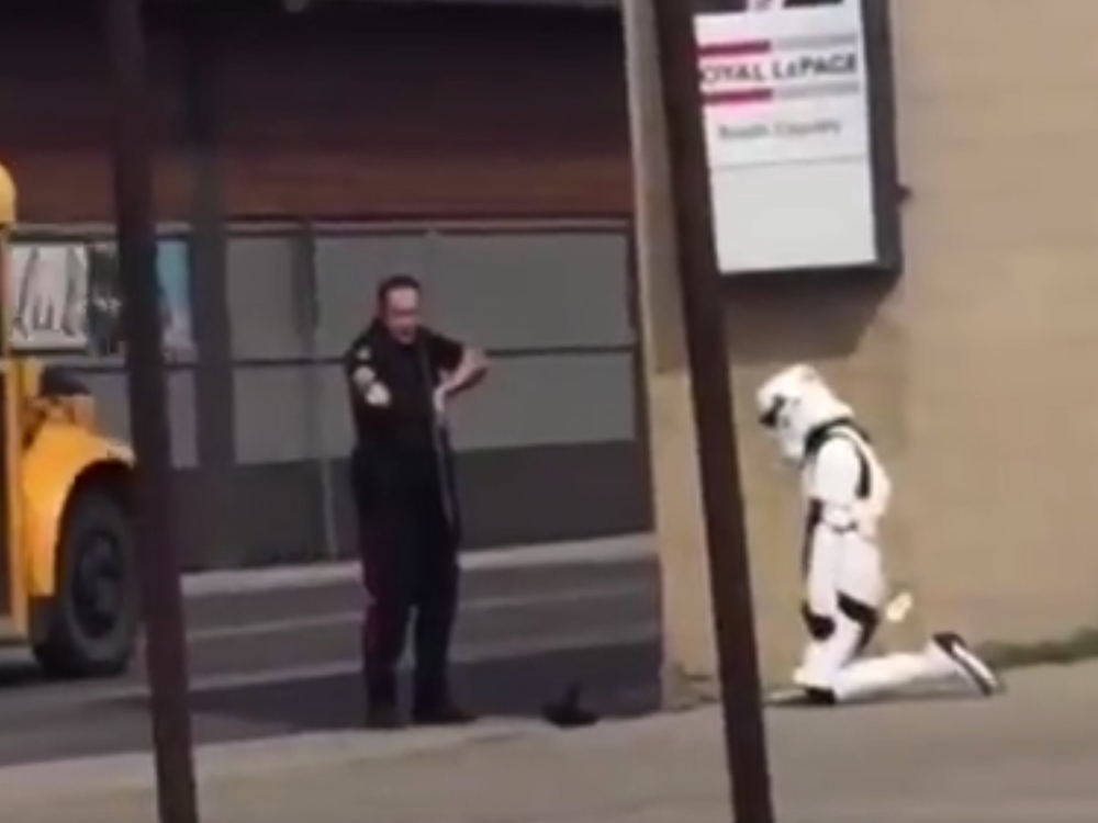 Female stormstrooper arrested Canada
