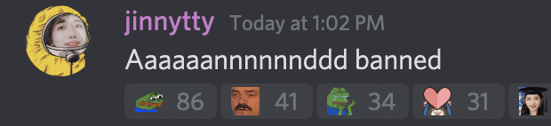 Jinny discord comment