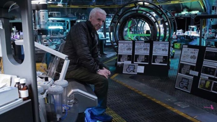 Alita producer James Cameron shares BTS picture of the massive Avatar 2 set