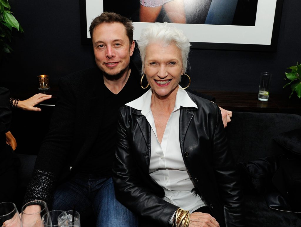 Elon and his mother Maye Musk