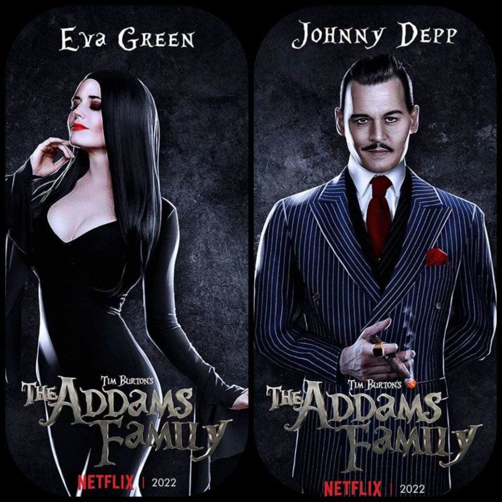 Eva Green and Johnny Depp Addams Family