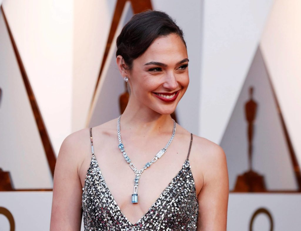 Gadot on red carpet at premiere