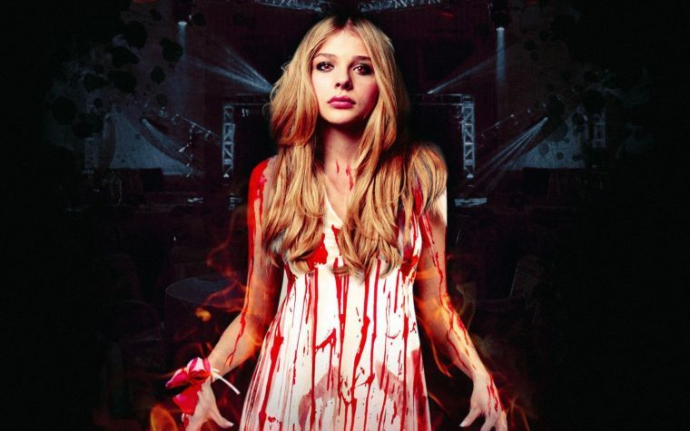 Chloë Grace Moretz as Carrie White.