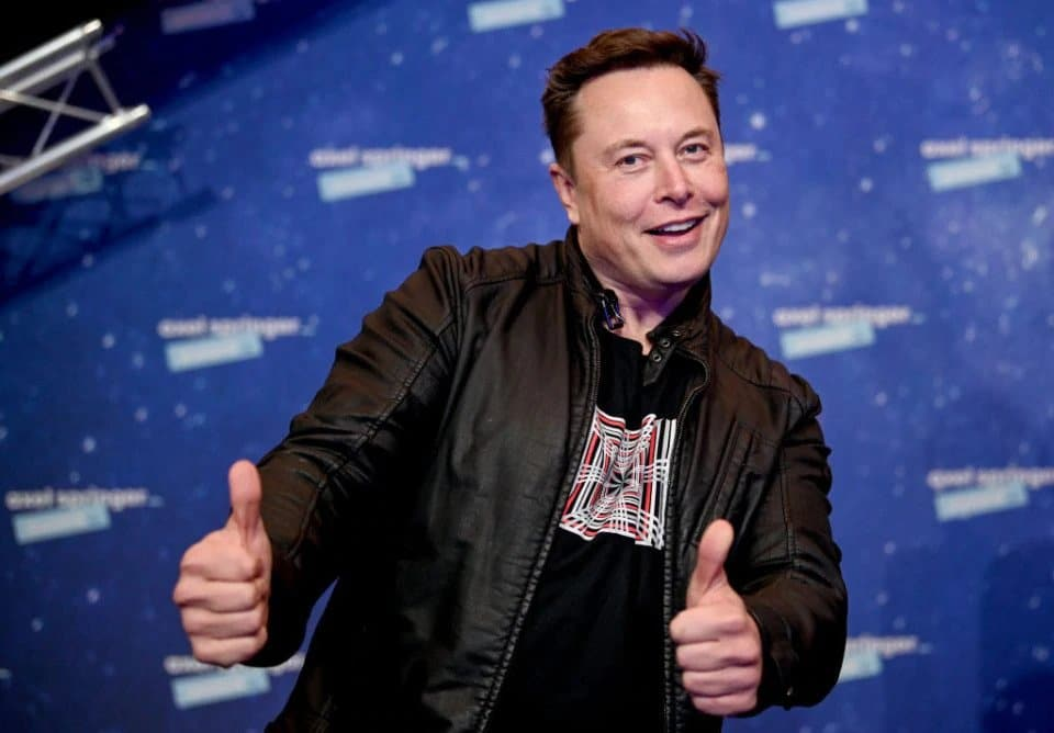 Elon Musk thumbs up