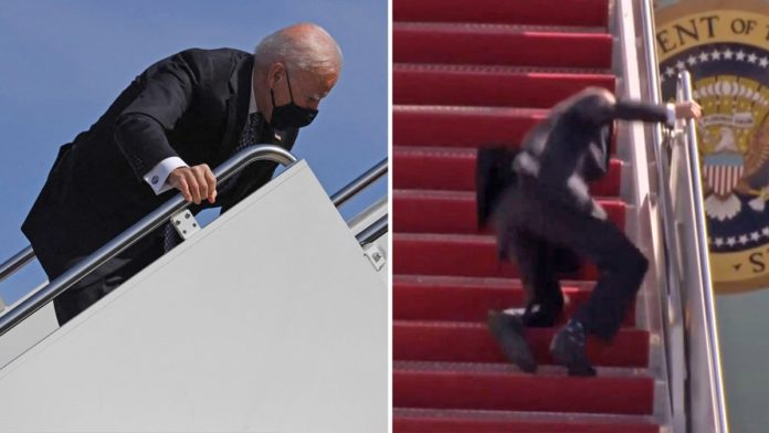 Twitter deletes Joe Biden tripping on stairs video for 'inciting violence'