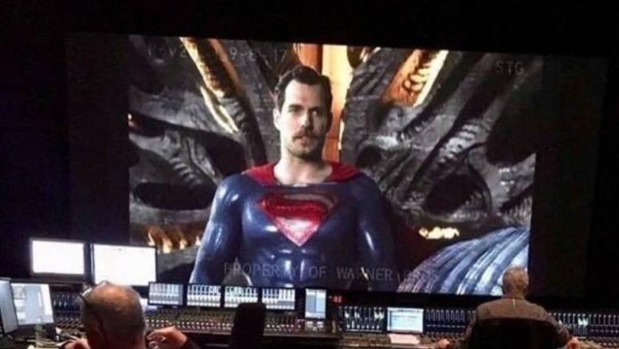 Pictures of moustached Henry Cavill playing Superman leak online